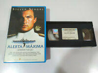 Alert Maxima Under Siege Steven Seagal VHS Kassette Spanisch