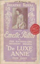 Edward Clarke DE LUXE ANNIE: EMELIE POLINI IN THE ENTHRALLING MYSTERY DRAMA 1924