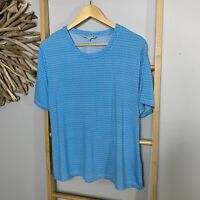 Noni B Size XL 16 Blue Women's Blouse Top T-Shirt Tee