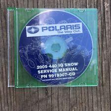 2005  POLARIS SNOWMOBILE 440 IQ SNOW SERVICE MANUAL CD P/N 9919307-CD  (303)