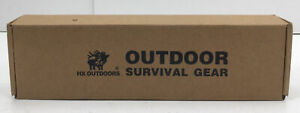 HX Outdoors D-173 Titanium Coated Stainless Steel Tactical Knife (Open Box)