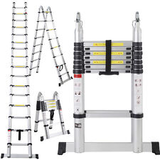 EN131 16.5FT Aluminum Telescoping Telescopic Extension Ladder Tall Multi Purpose