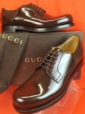 NIB GUCCI COCOA SHADE LUX GOOD YEAR LEATHER DRESS OXFORDS 7.5 US 8.5 # 386542