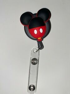 MICKEY MOUSE Retractable ID Lanyard CUTE! NEW!