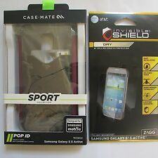 Case-Mate Sport POP Case Samsung Galaxy S5 Active Gray w'ZAGG Screen