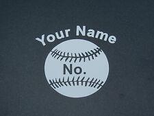 Sports Fastpitch Softball Name & No.Decal- Helmet/Car/Truck/Suv/Laptop/Walls.