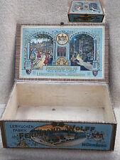 Lebkuchenkiste aus Holz, Firma Ferdinand Wolff um 1900
