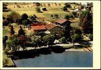 Böningen bei Interlaken Postkarte ~1950/60 Blick auf das Hotel du Lac See Boote