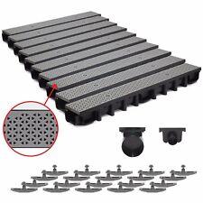 10m Entwässerungsrinne für modulares System A15 98mm, komplett Grau Decor