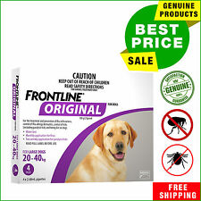Frontline Original For Large Dogs 20-40 Kg Purple Pack 4 Pipettes by Merial