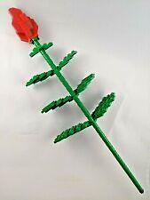 BrickCrafts Build-Your-Own LEGO® Long Stem Rose Flower Valentine Sweetheart ❤️