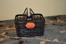 vintage collectible plastic Halloween pumpkin black basket Hartin International