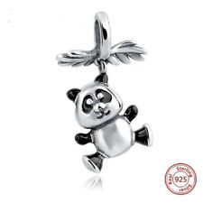 Panda Bear Charm Genuine Sterling Silver 925 Fits European Bracelet