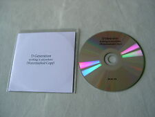 D GENERATION Nothing Is Anywhere promo CD album