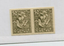 LITHUANIA    92  MNH IMPERF PAIR  WHITE DOT ABOVE T IN LIETUVA