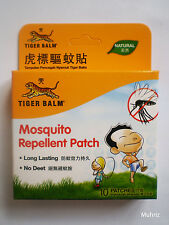 TIGER BALM Mosquito Repellent Patch, Long Lasting, No Deet, Natural (10 Patches)