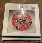 Vtg Christmas Poinsettia Trivet Silver Plated Wm. Rogers Oneida 1986 Japan