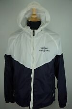 Breitling x Alpha White Blue Lightweight Hooded Jacket Sz L MINT CONDITION