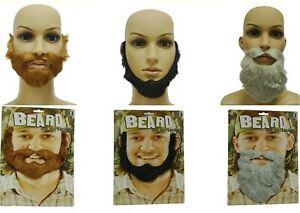 1x Self Adhesive Stick on Funny Party Grandpa Fake False Mustache Beard Costume