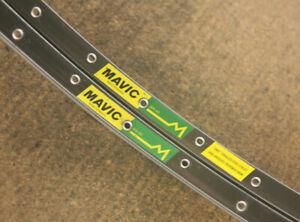 Vintage set (2) French Mavic MA40 clincher rims rimset 700c / 36 holes