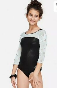 Justice Girl's Size 18 Velour Star Long Sleeve Leotard New with Tags