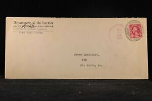 Idaho: Fort Hall 1924 US Indian Field Service Interior Depart Legal Size Cover