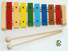 Metallophon Xylophon für Kinder mit 8 Klangplatten LARIX TOYS