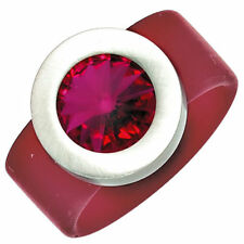 Modeschmuck-Ringe aus Edelstahl mit Kristall 18,4 mm Ø 58 ()