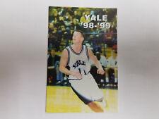Yale University Bulldogs 1998/99 Men's Basketball Pocket Schedule - Fusco