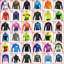Mens Team Cycling Jersey Long Sleeve Bicycle Jersey Bike Shirt Cycle Sports Tops