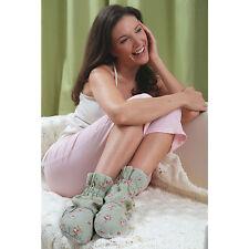 Aroma Home Rosebud Microwave Feet Warmers - Sage - Micowavable Slippers