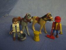2X Establo Chicos Figuras sobre Caballo Zu 5221 4190 Reiterhof Playmobil 8504