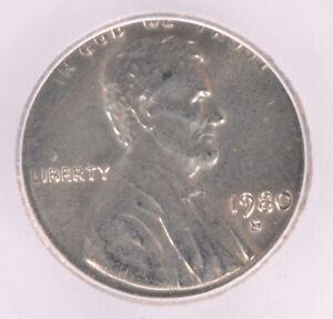 ICG 1c 1980-D Lincoln Cent on Dime Planchet MS63