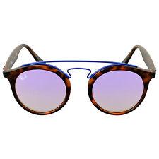 Ray Ban Lilac Gradient Mirror Round Sunglasses