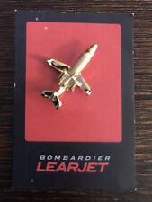 Rare Bombardier Learjet Pin Gold Color Lapel Hat Collector Pin