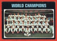 1971 Topps #1 Baltimore Orioles World Champions Team EX Brooks Robinson FREE S/H