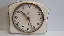 Vintage Art Deco style 1930s Ceramic Kitchen Wall clock JUNGHANS