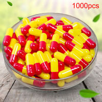 1000Pcs Multicolor Empty Gelatin Capsules Pill Vcaps Gel Halal Separated BoxFAJO