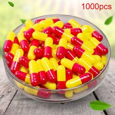 Gélules Vides Multicolor 1000Pcs Pill Box Séparés Halal Vcaps FE