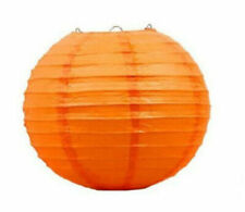 "12pc Orange Round Paper Lantern Halloween Party Decor Diy Project Supply 12"" Lot"