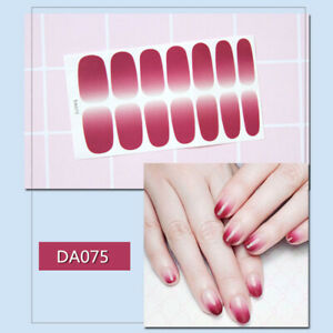 Nail Stickers Colorful Fashion Nail Art Stickers Collection Nail Polish Strips