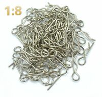100 x RC Body Clips Remote Control Cars Truck 1/8 Spare Repair Parts Buggy Tools
