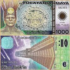 MAYA YUCATANIA 1000 MIL SOLES DE ORO POLYMER UNC # 408