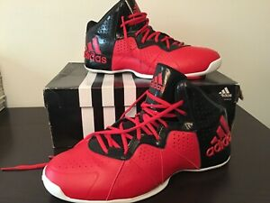 Brand New Adidas Pro Smooth Feather Red/Black Size 11.5 Men's