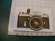 Original CAMERA booklet: NIKON 1973--28pgs