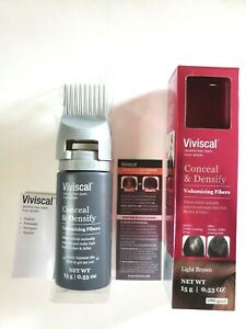 NEW! Viviscal Conceal & Densify Volumizing Fibers LIGHT BROWN