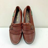 Eastland Womens Shoes Size 5 M Slip On Kiltie Loafers with Buckle Brown Leather