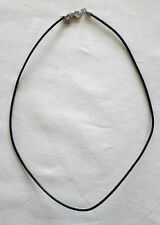 """NEW 18"""" 2mm Black Leather Cord Necklace Men Women"""
