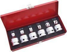 """Tool Hub 9445 3/4""""Dr. Impact Socket Set 6pcs,  M16,M18,T70-80-90-100"""