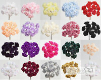 Ribbon Roses on a Wire Stem - 20 Colours